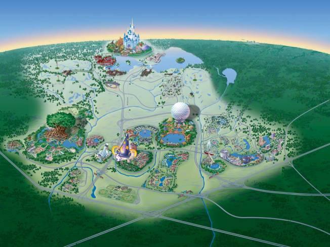 Disney mapa